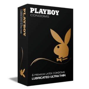 Προφυλακτικά Playboy Lubricated Ultra Thin 6 τεμάχια