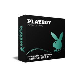 Προφυλακτικά Playboy Lubricated 3 in 1 3 τεμάχια