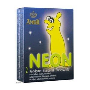 Amor Neon προφυλακτικά που φωσφορίζουν