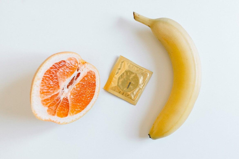 προφυλακτικό πορτοκάλι μπανάνα